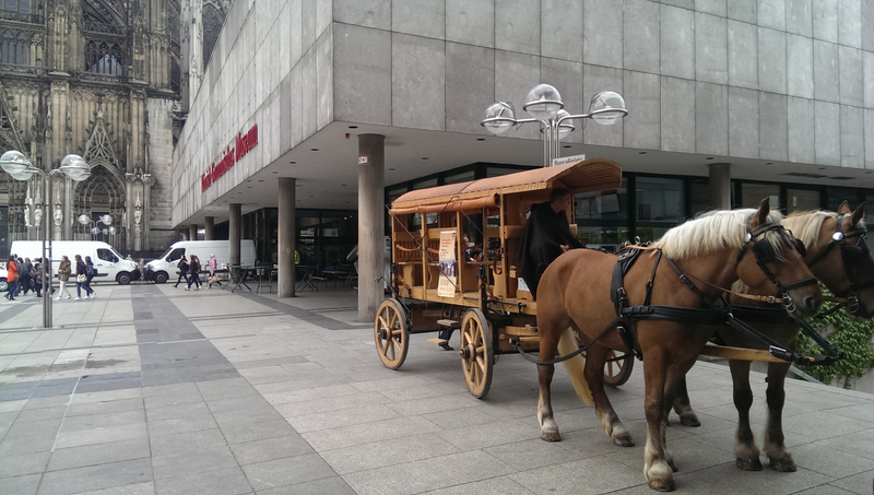 The Roman Germanic Museum in Cologne with the Roman coach from Nettersheim
